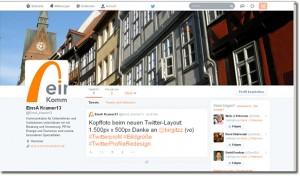 Screenshot @EinsA_Kramer13 im neuen Twitter-Layout